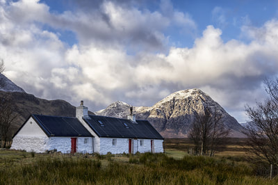 One of Scotlands iconic images, Blackrock cottage with the Buacaille in the background.