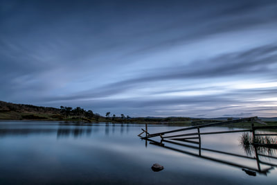 Just after sunset at Knapps Loch.