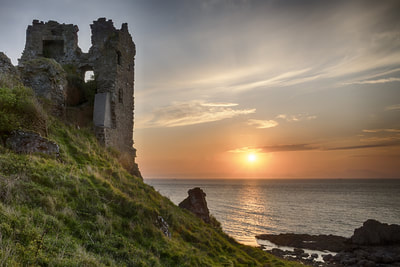 Sunset at Dunure castle, Ayrshire