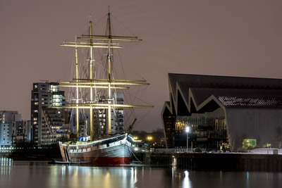 The Glenlee tall ship if moored at the Glasgow transport museum and is one of the attractions.